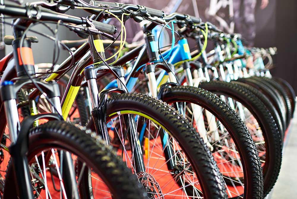 Cykler på række